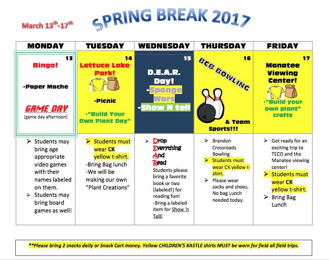 spring break 2017
